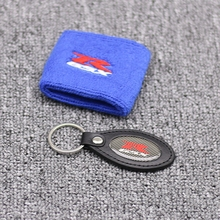 купить 100% Cotton Red Brake Reservoir Sock GSXR Oil Fluid Tank Cover Sleeve For Suzuki  по цене 194.74 рублей