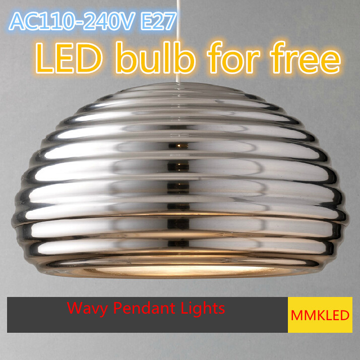 New design aluminum pendant light hanging lamp E27 AC110-240V diameter 36cm Wavy pendant lamp for home restaurant bulb free zg9048 pendant light ac 110 240v