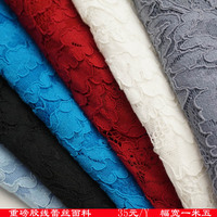 Heavy lace fabric french lace fabric with cordings