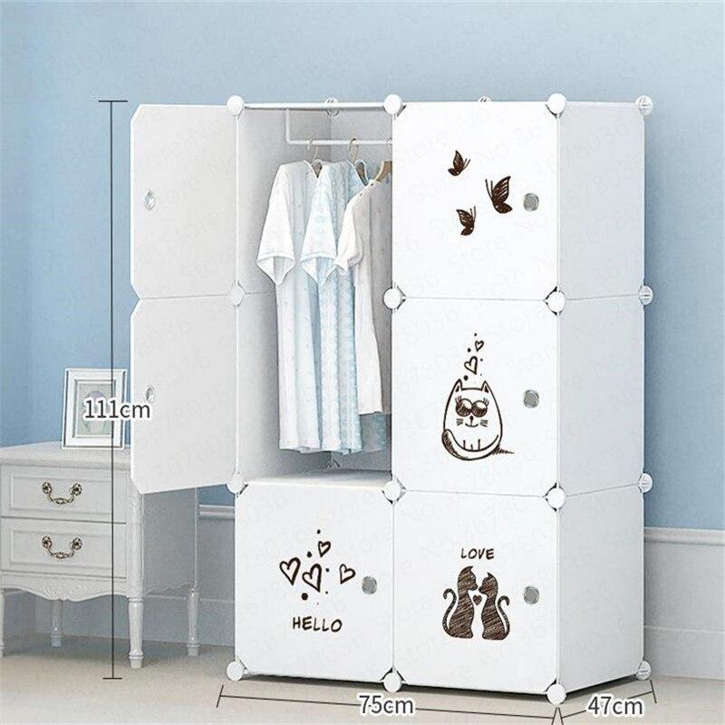 Wardrobe Plastic Steel Storage Cabinet