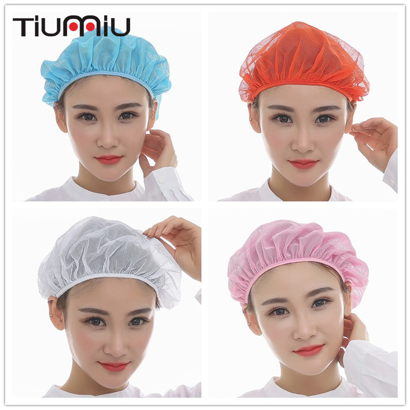 2018 Factory Warehouse Elastic Caps Kitchen Restaurant Bakery Waiter Chef Work Wear Hats Men Women Mesh Breathable Workshop Caps