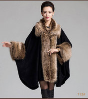 Brand shawl wrap scarf for women with fake fake fur collar scarf winter autumn long female pashmina ladies stole christmas gift