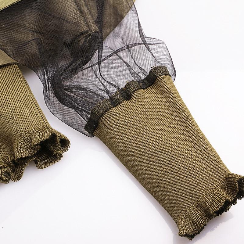 [EAM] 2020 New Spring Round Neck Long Sleeve Solid Color Gauze Split Joint Loose Sweatshirt Women Fashion Tide JC509 4