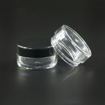 1000pcs *3g  clear cream Jar boxes 20g Empty Plastic Cosmetic Container Small Sample Makeup Empty Bottles Cosmetic Containers Ja