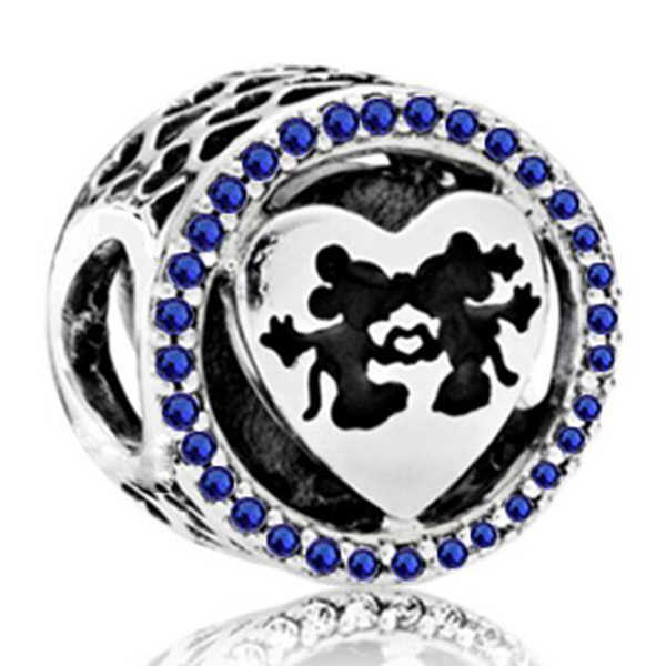 AIFEILI Women's Bracelet Jewelry European Charm Beads Personality Pendant Series Suitable for Pandora Mickey Katie Lovely