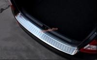 1pcs Steel Outer Rear Bumper Protector Guard Plate Cover Trim For Skoda Octavia MK3 A7 2015