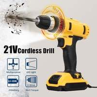 electric drill lithium cordless Electric Screwdriver Lithium Ion Battery 18+3 Electric Drill Rechargeable Handheld Power Tools