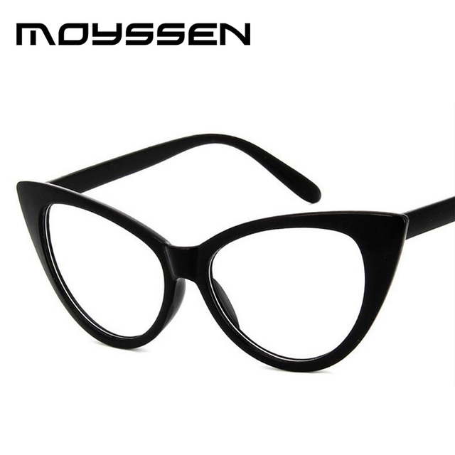 1f4d6af33db4 Moyssen Fashion Women Retro Cat Eye Glasses Frame Brand Designer Big Small  Size Decorative Myopia Optical Eyeglasses Eyewear