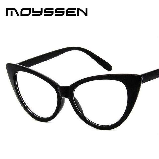 051b622e9883e0 Moyssen Mode Vrouwen Retro Kat Bril Frame Merk Designer Grote Kleine Size  Decoratieve Bijziendheid Optische