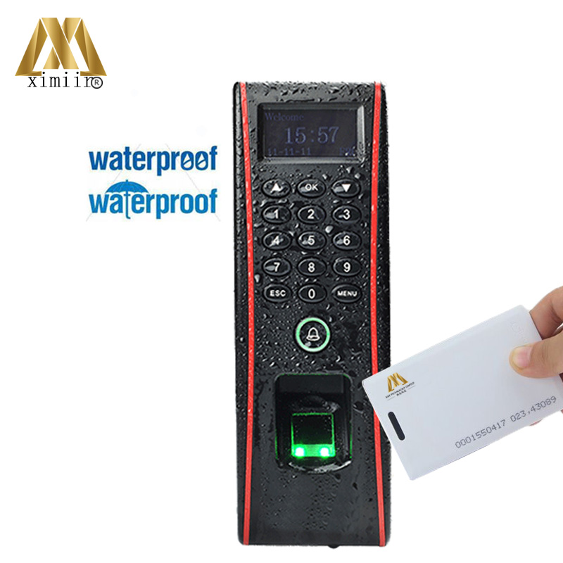 Waterproof Biometric Fingerprint Access Control ZK TF1700 And Time Attendance System With 125KHZ RFID Card Access Controller ip65 waterproof fingerprint access control and time attendance tcp ip zk tf1700 door access control system with rfid card reader