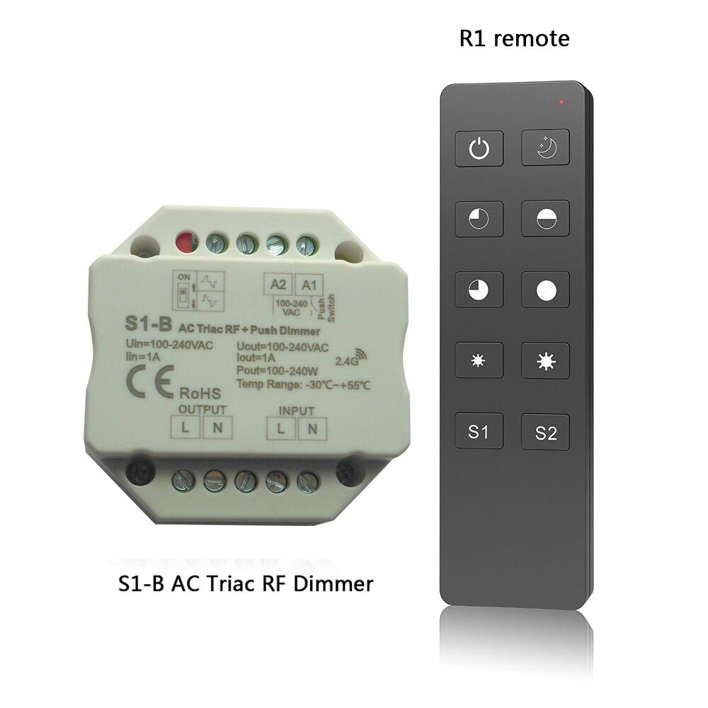Wholesale S1-DR/SS-B/S1-B/R1/S1-K /RT6 AC Triac DMX Dimmer;AC100V-240V,2.4G Remote RF smart switch for led lamp light r7m a75030 s1 r7m a75030 s1 ac servo motor r7m a75030 s1