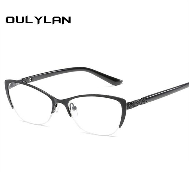 ebd58edcc9 Oulylan Women Reading Glasses Metal Optical Mirror Glasses Anti-Fatigue  Women s Cat Eye Glasses Elderly Dedicated +1.0 2.0 3.0