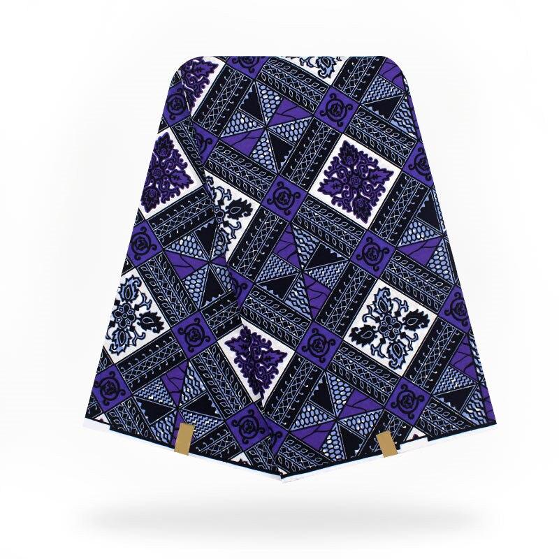 Tessuto africano olandese reale cera hollandais del tessuto della cera, tessuto stampato Africano 100% cotone Africano Ankara Tessuto! T110601