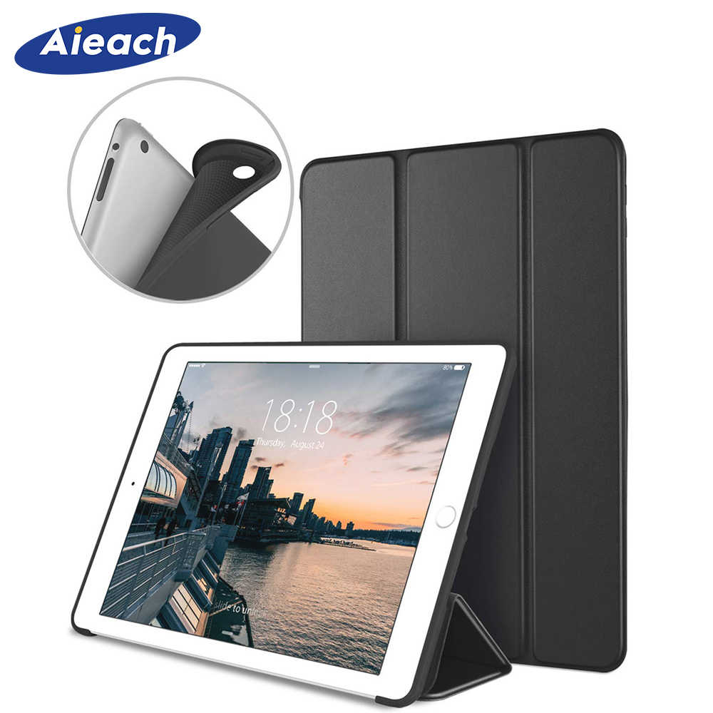 "Case Voor iPad 2/3/4 9.7 ""Cover Smart PU Leather Folding Stand Silicone Soft Back Funda voor iPad 2 3 4th Met Auto Sleep/Wake Up"