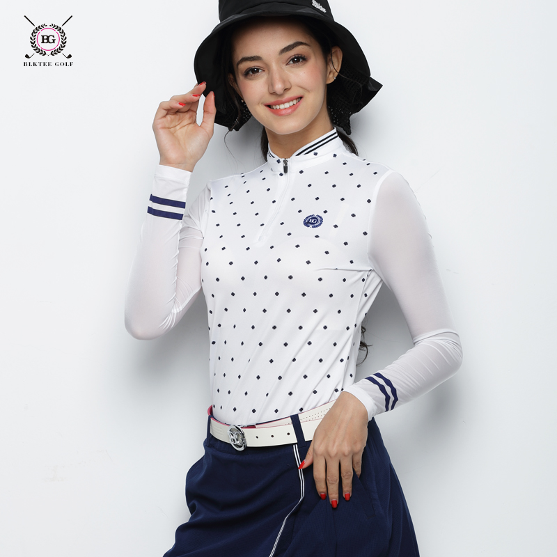 2018 New BG Hot Selling Women Golf Polo Shirt Summer Short Sleeved Quick Dry T - shirt Ladies Sports Jersey Clothes everio summer golf t shirt short sleeve polo shirt quick dry breathable golf wear 5colors
