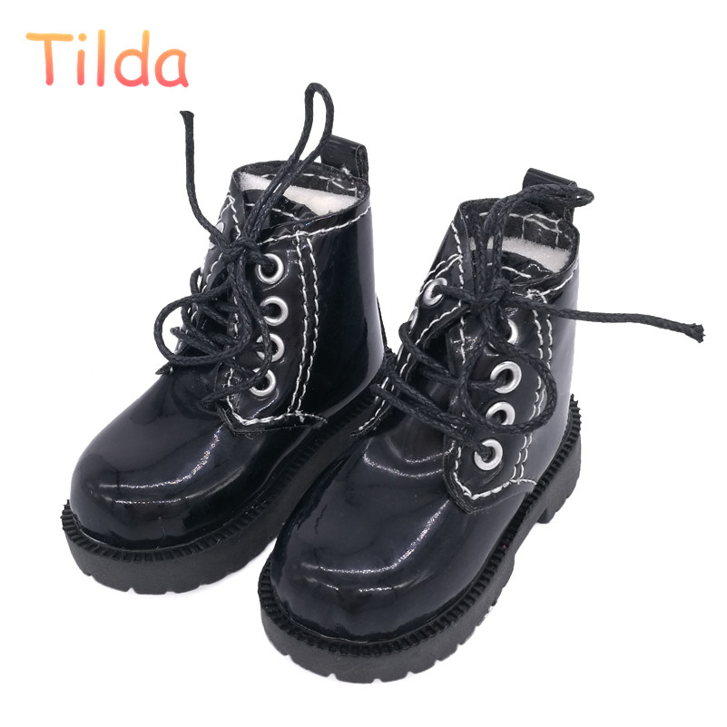 Tilda 7cm Length 1/3 BJD Doll Toy Shoes,Lovely Mini Shoes Simulation Leather Short Boots for Dolls High Quality Doll Accessories 6cm pu punks heels bjd doll shoes leather chunky heels shoes women s high heel for 1 4 dolls toy high quality doll accessories