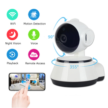Mini Wireless Surveillance HD 720P WiFi IP Ccamera Indoor Memory Card Slot CCTV Camera V380 Home Security IP Camera Wi-Fi vstarcam c7838wip hd indoor ip camera pnp audio recording storage 64g tf card cctv wireless ip camera 720p free send 8gb card