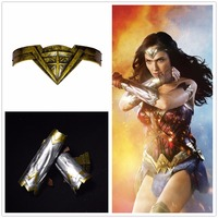 Wonder Woman Diana Prince Cosplay Armband And Tiara Headband Crown Accessories Halloween Deluxe Adult Set Props