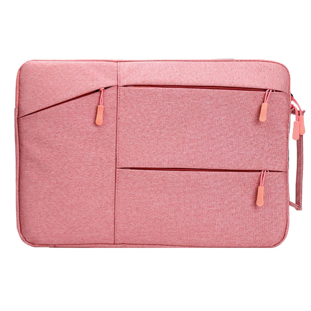 Pink Oxford Style Fashionable Laptop Notebook Sleeve Case Carry Bag Shockproof Handbag Suitable For Macbook