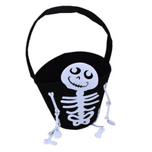 Lovely pet Free Shipping Halloween Party Holiday Kids funny surprising Skull Bag or Candy Bag or Handbag Jul29