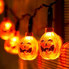 Halloween Pumpkin LED String Lights 6m Battery Operated Light Party Decor Garden