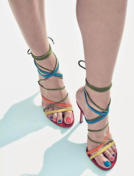 Cheville 2018 Sangle Chaussures Chaud Couleur Toe À Pictures Nouveau Peep Talons D'été Lacets Habillées Femmes Femme As Hauts Multi Sandales 8w0Z5Zqf