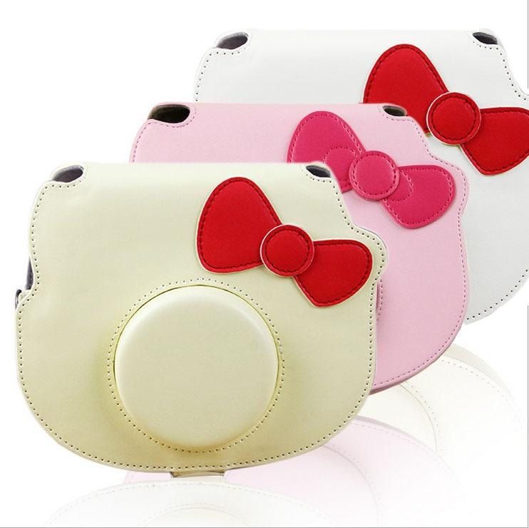 Online Shop FUJIFILM Instant Camera PU Leather Case Bag For Polaroid Instax Mini Hello Kitty Shoulder Strap Fashion Protector Cover