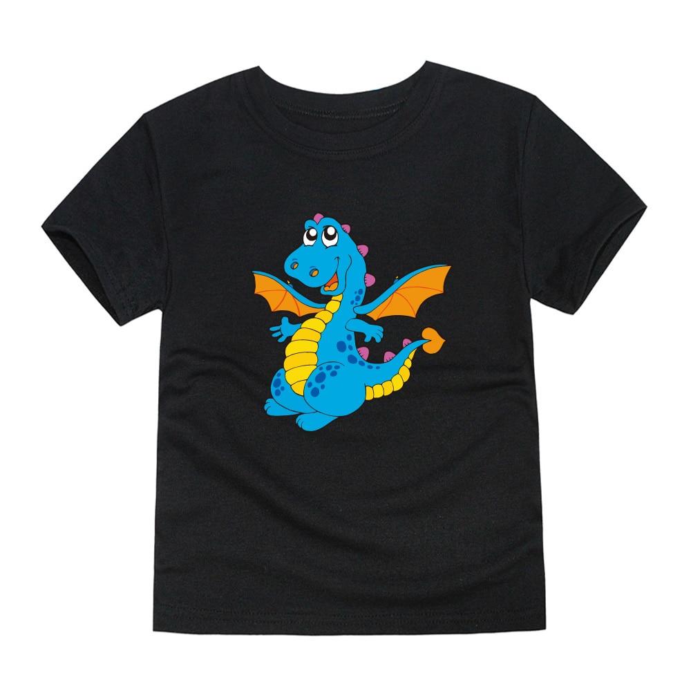 Top Boys Dinosaur T-Shirts Dragon Children Summer New Kid for 1-14-Years