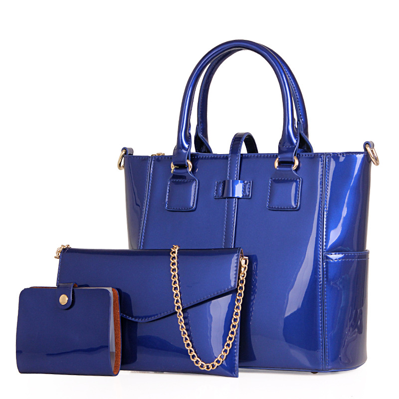 Famous brand women bag top-handle bags 2016 fashion women handbag set PU leather composite bag lady fashion clutches purse T144 цена и фото