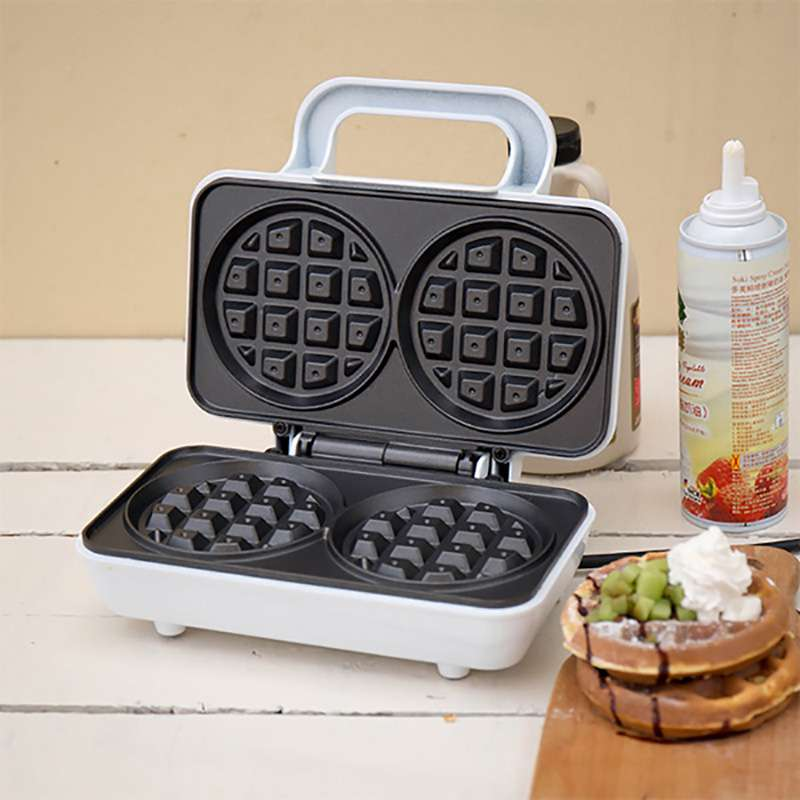 220V Non-stick Electric Round Waffle Maker Sandwich Multifunctional Breakfast Maker Baking Machine 2pcs Waffle Maker EU/AU/UK