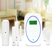 Free ShippingNewest GSM Alarm System Security Home Touch Keyboard Support LCD Menu Temperature Scope Alarm Two