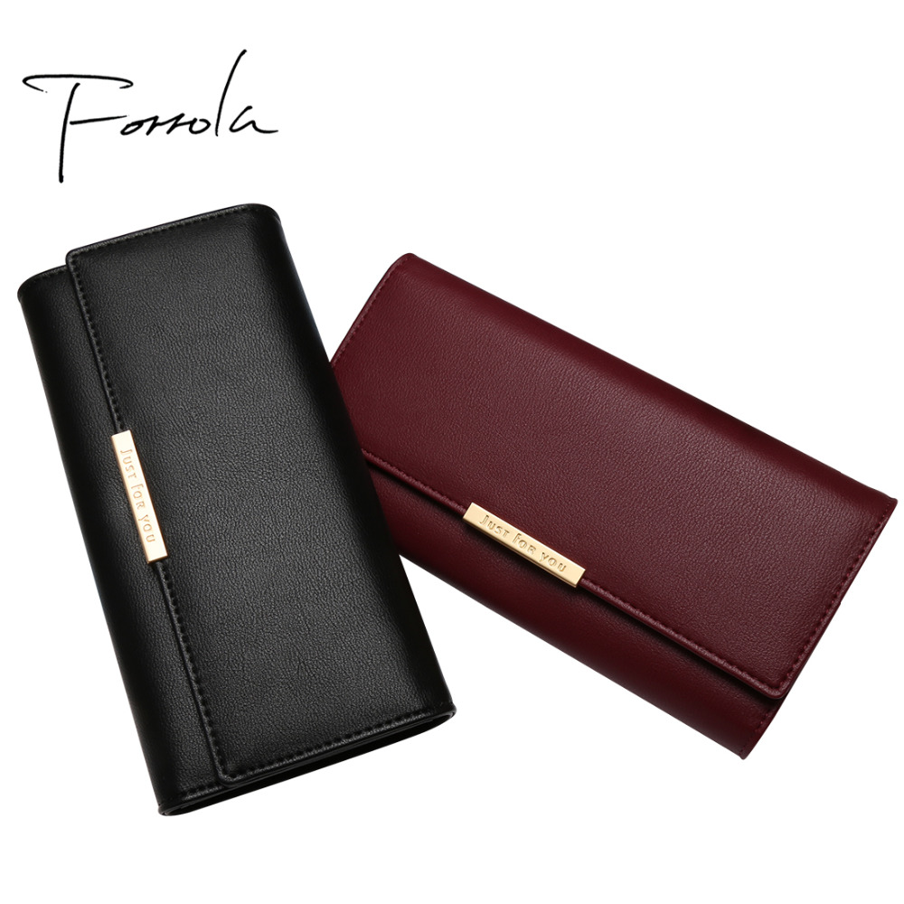 New Women Fashion Leather Hasp Tri-Folds Wallet Portable Multifunction Long Change Purse Hot Female Coin Zipper Clutch For Girl yuanyu 2018 new hot free shipping python leather women purse female long women clutches women wallet more screens women wallet