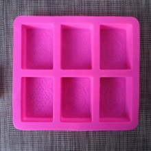 silicone mold soap Handmade six-hole soaps mould forms molds one piece six hole moulds