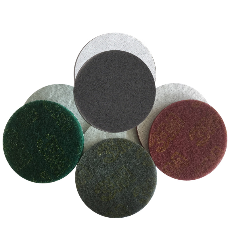 15 PCS 5 inch 6-Hole Multi-Purpose Flocking Scouring Pad 240-800 Grit Industrial Heavy Duty Nylon Cloth for Polishing /& Grinding