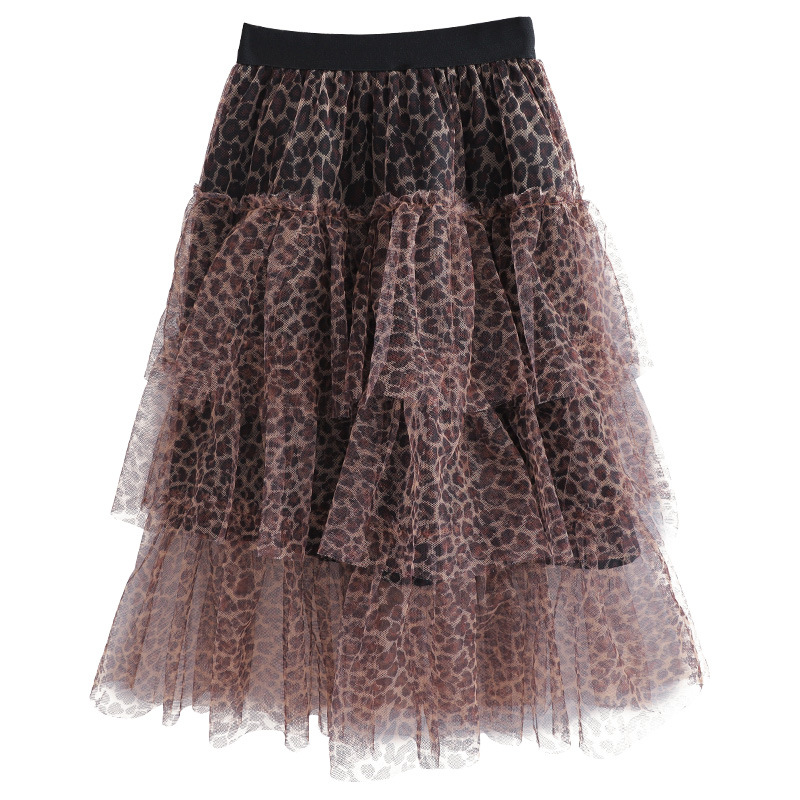 leopard print tool skirt