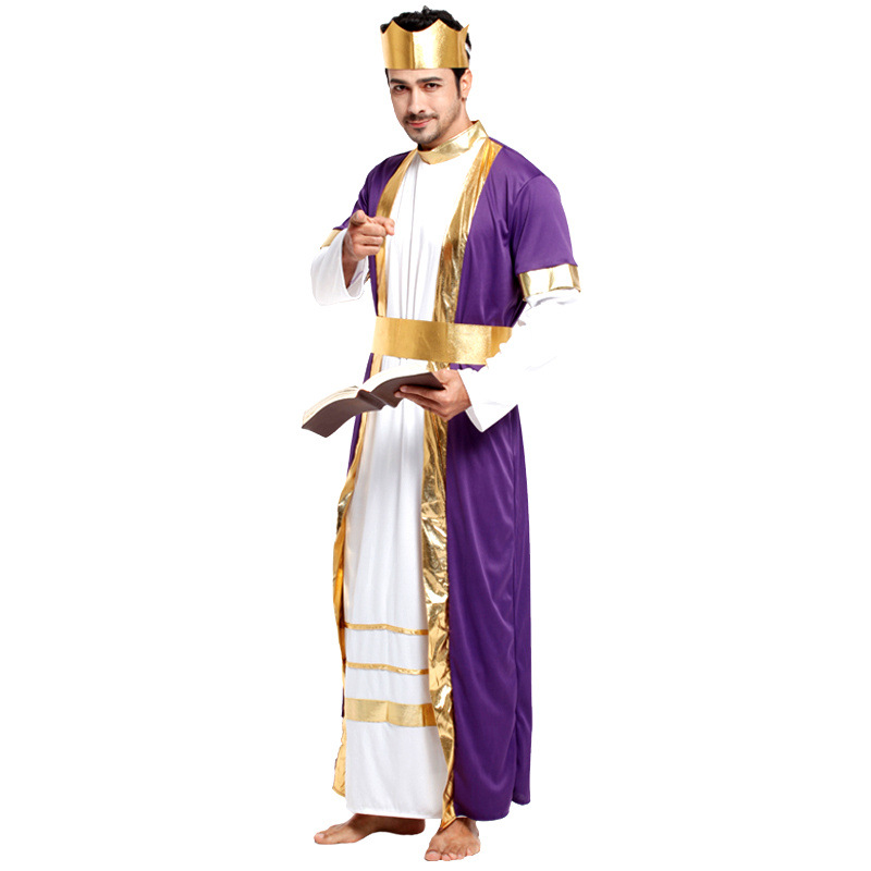 Male Halloween Cosplay Deluxe King Costumes Fancy Dress Stage Performance Dress Clothes Fatasia Disfraces Vestido Suit