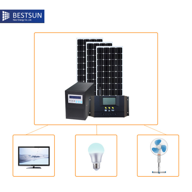 US $350 0 |300w 1000W Off grid Solar protable Lighting System For Home  Indoor And solar product For Outdoor Lighting solar electric system-in  System