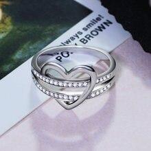 Кольцо с красивым милым сердечком anel aneis романтичное кольцо