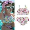 2017 Summer Beach Floral de Frutas Recién Nacido Niños Bebés Niñas Princesa Belleza Bikini Tankini traje de Baño traje de Baño Traje de Baño Ropa de Playa