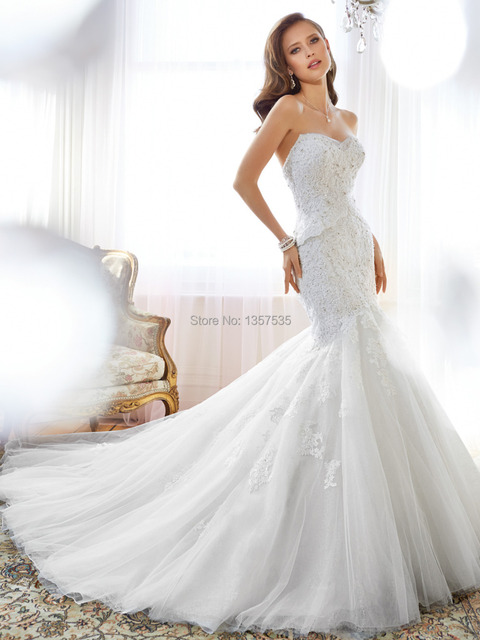 Vintage Wedding Dresses USA Bridal Gowns Top Lace Beading 2015 Off ...