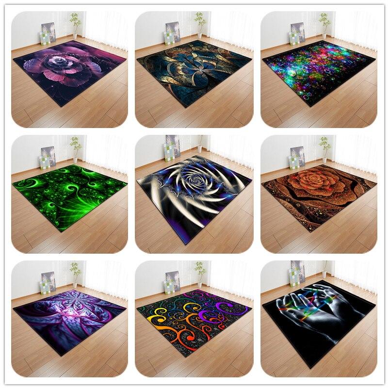 Creative Geometric Pattern 3D Carpets Large Size Living Room Bedroom Area Rugs Tea Table Rectangular Antiskid Floor Mat/Carpet