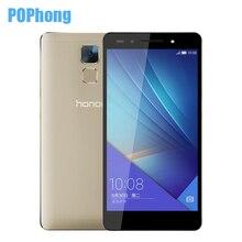 Huawei honor 7 32 rom 3g ram hisilicon kirin 935 octa core mobile phone 5.2 pulgadas 20mp 4g lte de la huella digital