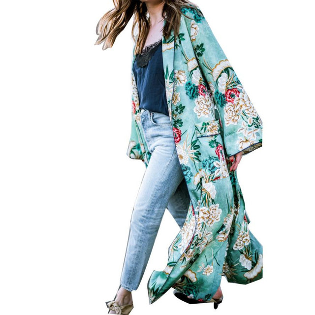 dffcda30873 Women s Tops Bohemia Long Style Floral Tassel Kimono Female Oversized Shawl  Blouse Women kimono cardigan Plus