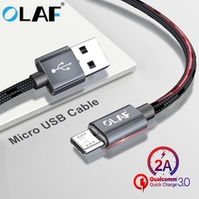 OLAF 2.1A 1m 2m Micro USB Cable for Xiaomi Redmi Note 5 Pro 4 Fast Charging USB Charger Data Cable for Samsung S7 Charging Cord цена и фото