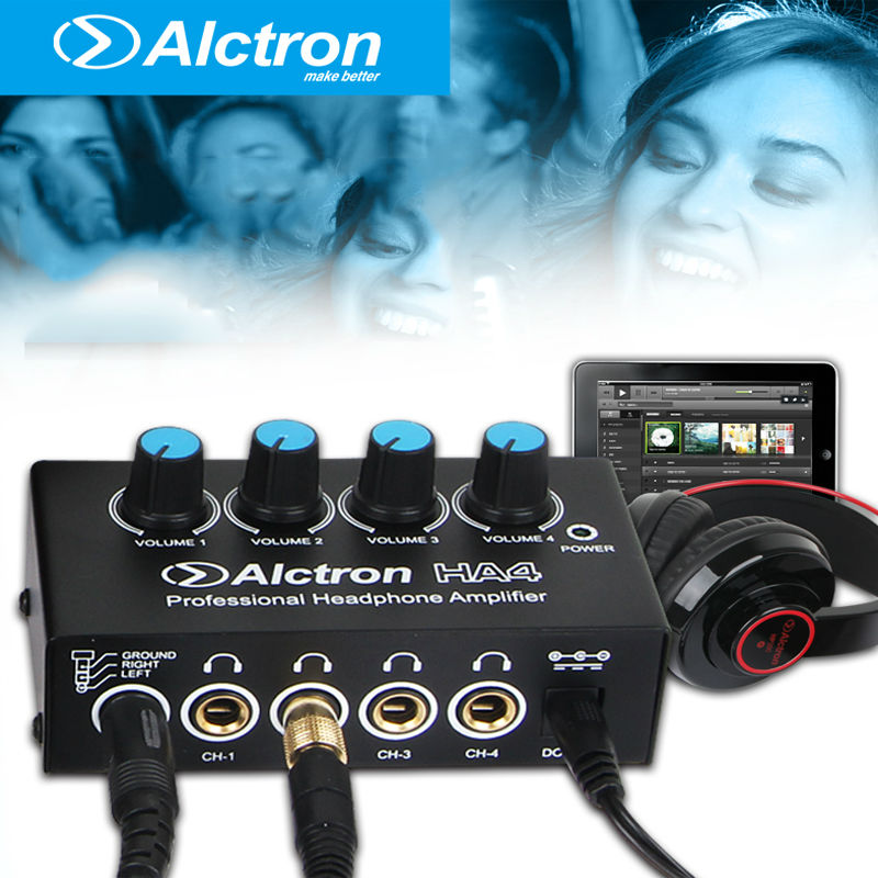 Alctron HA4 BARU Pemantauan Profesional Headphone Amplifier Compact 4 Channel Headphone Amp
