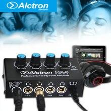 Alctron HA4 NOVO Monitoramento Profissional Headphone Amplificador Compacto 4 Canais Amp de Fone De Ouvido