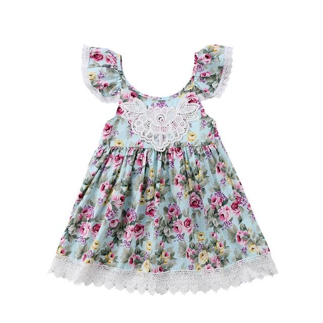 0e9a3d286411 Fashion Toddler Kids Baby Girls Clothes Flower Tutu Dress Lace ...