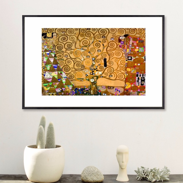 Klimt Tree Of Life Canvas Art Print Painting Poster Wall Pictures For Room Decoration Home Decor
