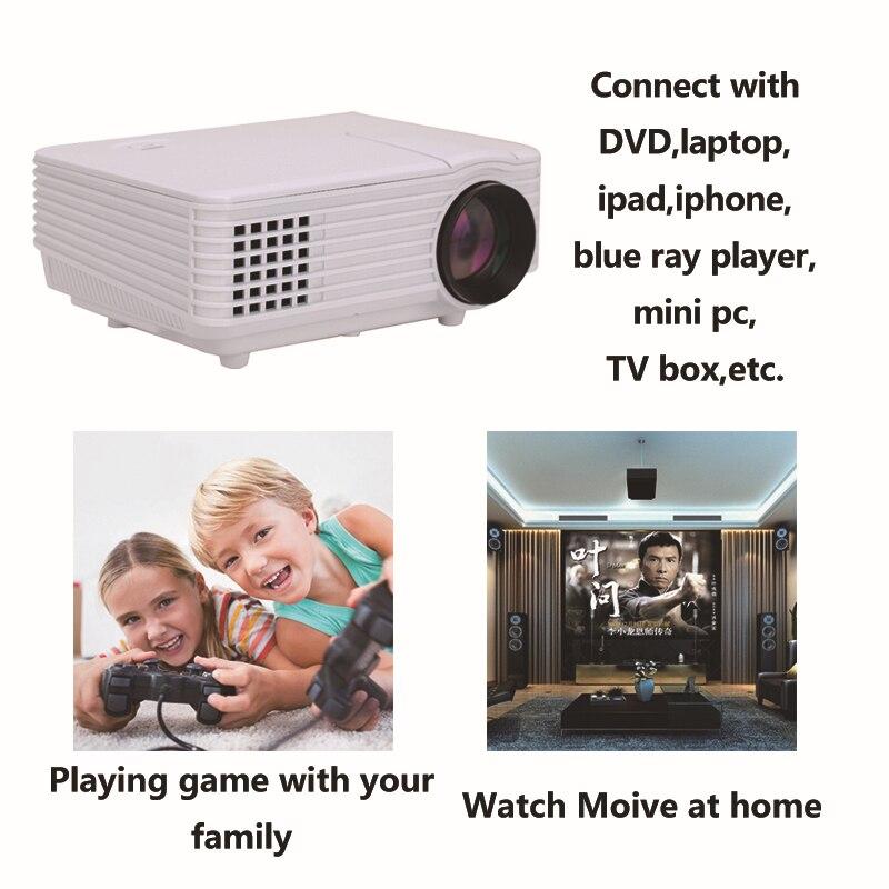 Home Theater 1080 P projetor HD 3D LED Proyector 800*600 resolución 800 lúmenes
