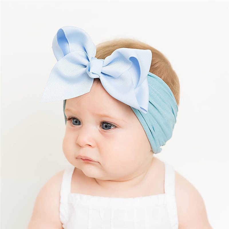 子供ヘッドバンドリボンヘッドバンド弓女ソリッドカラー新生児女の子アクセサリー 0-6Y